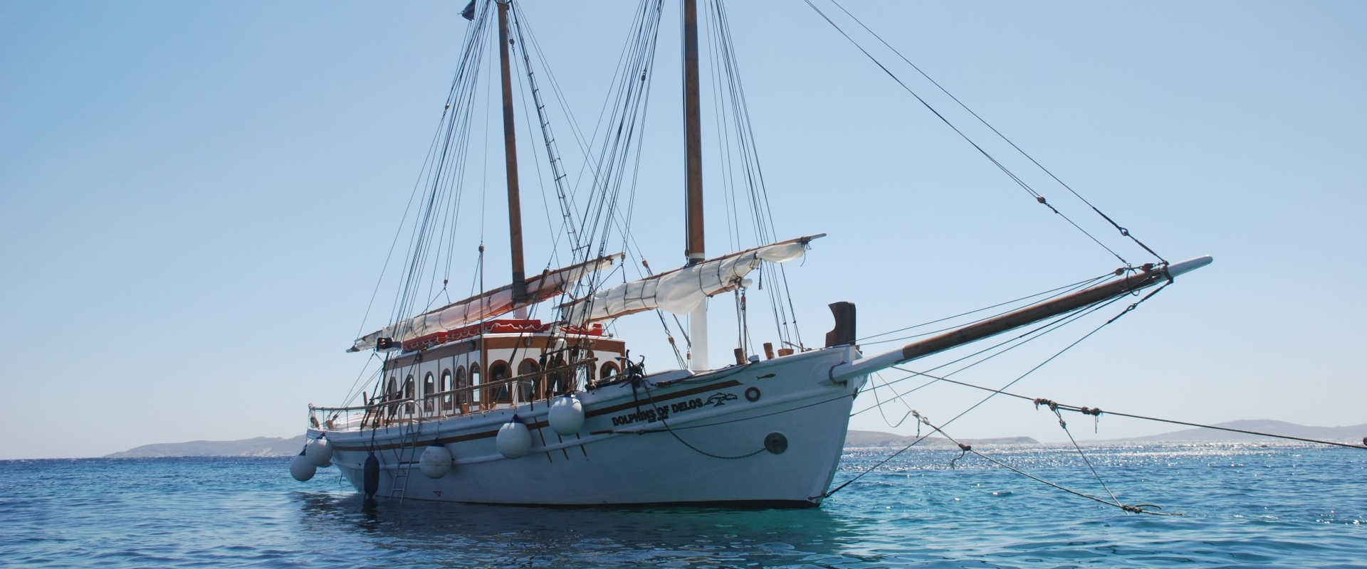 Dolphins of Delos Cruise Boat - Wooden traditional handcrafted Trehantiri